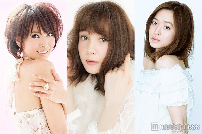 「神戸コレクション2016 S/S」に出演する(左から)加藤夏希、トリンドル玲奈、野崎萌香
