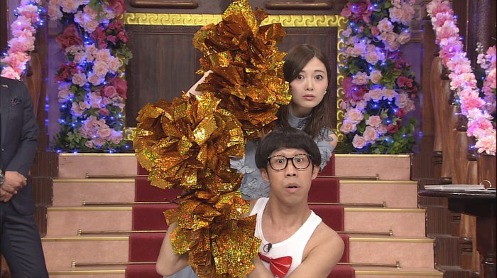 白石麻衣&ひょっこりはん(C)日本テレビ