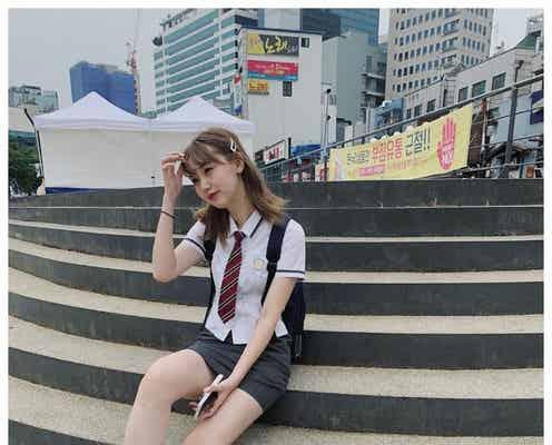 江野沢愛美、韓国のミニスカJKショットで美脚披露「過去1番反響があった」