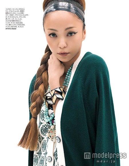 「シャネル」最新クルーズコレクションを身にまとった安室奈美恵/「ハーパーズ バザー」1・2月合併号より(画像提供:ハースト婦人画報社)【モデルプレス】
