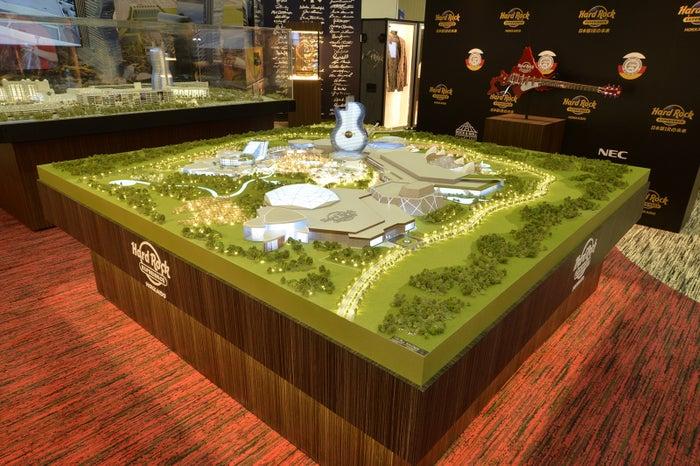ハードロック・ジャパンの苫小牧におけるIR構想模型/画像提供:ハードロック・インターナショナル