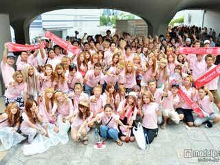 ギャルモデルら総勢100人が渋谷でゴミ拾い 「ポイ捨て禁止」と呼びかけ