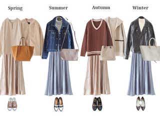 【しまむら】高見え「とろみスカート」でパーソナルカラー別おすすめコーデ