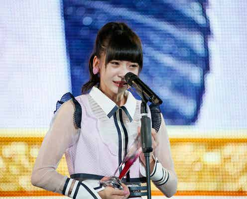 "NGT48荻野由佳、涙で力強く宣言 早口・嗚咽・歌・酸欠…拍手喝采""約5分30秒""スピーチ<第10回AKB48世界選抜総選挙>"