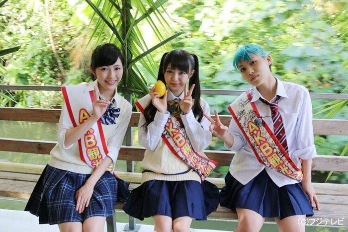 渡辺麻友の素顔にNMB48メンバー「全然正統派ではない」/(左から)渡辺麻友、市川美織、木下百花【モデルプレス】