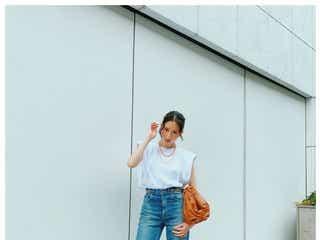 河北麻友子、美脚際立つデニムスタイルに親友・桐谷美玲も反応「だからスタイルの良さよ」