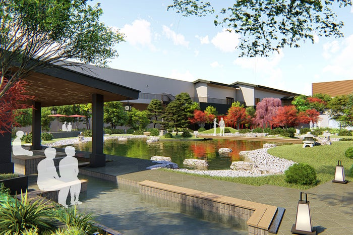 天空庭園内の足湯(屋上庭園)/画像提供:大阪ベイタワー合同会社