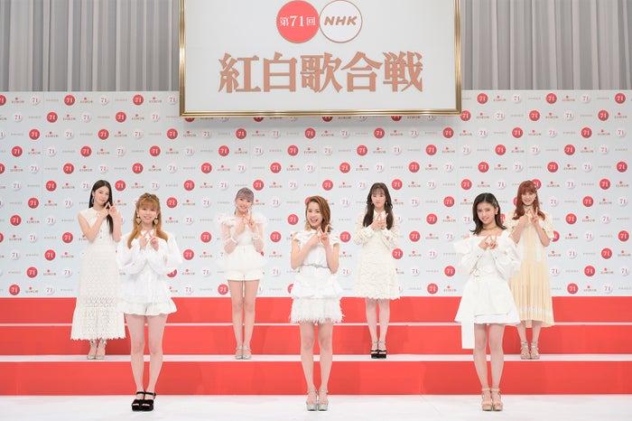 NiziU「第71回紅白歌合戦」出場歌手発表記者会見(C)NHK