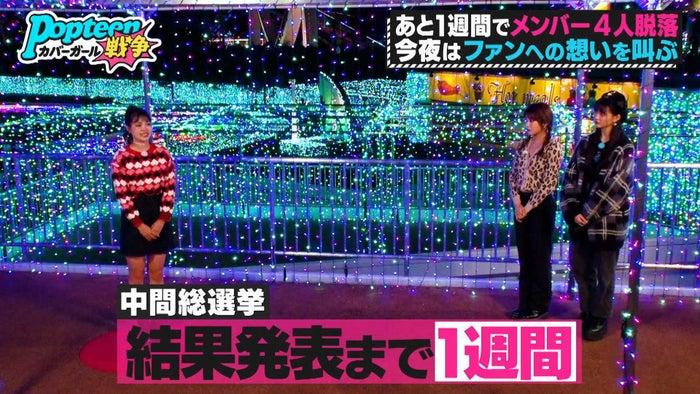 ゆめぽて、あいりる、ゆあてぃー/「第3次Popteenカバーガール戦争」(C)AbemaTV