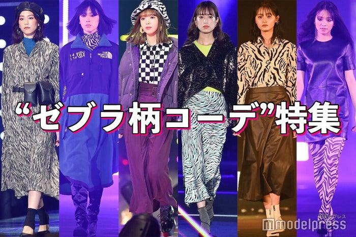 (左から)桐谷美玲、三吉彩花、藤田ニコル、佐々木久美、遠藤さくら、横田真悠 (C)モデルプレス
