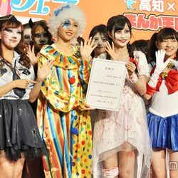 関根優那(Cheeky Parade)、志村理佳(SUPER☆GiRLS)、金澤有希(GEM)、廣川奈々聖(わーすた)