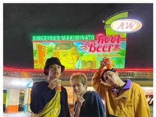 「オオカミちゃん」竹内唯人・Rude-α・Kaya、沖縄での再集結ショットにファン歓喜