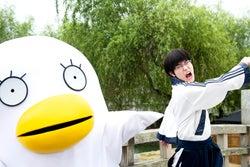 実写映画「銀魂」菅田将暉のメガネがメガネすぎる 切れ味抜群のツッコミ、エリザベス先輩とのコンビネーション…アクションも注目!