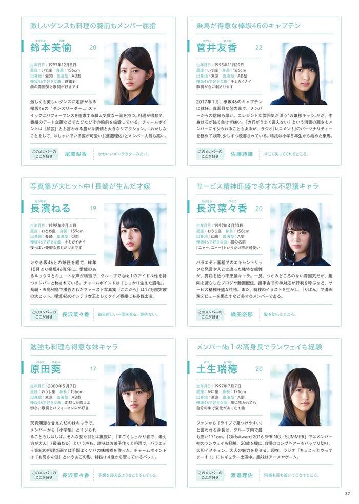 欅坂46全メンバー名鑑を掲載(提供写真)