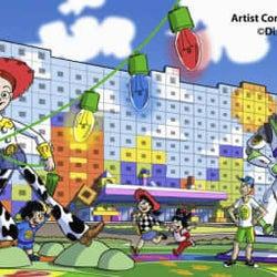 ディズニーの新ホテル、概要発表 トイ・ストーリーの世界観