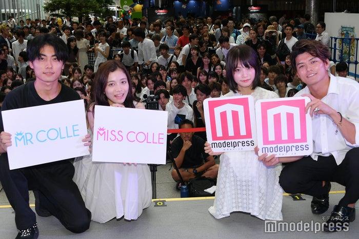 (左から)浅井匠さん、上田彩瑛さん、青木百花さん、米麦圭造さん (C)モデルプレス