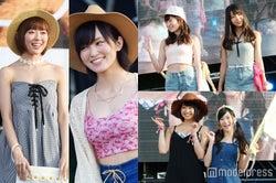 NMB48の華やかファッションに観客釘付け 美ボディ強調&大胆イメチェンで沸かす
