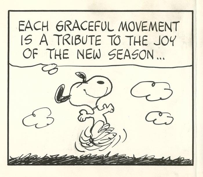 「ピーナッツ」原画(部分) 1972年3月20日(C)Peanuts Worldwide LLC