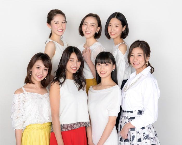 (後列左から)武井沙都美、渡辺舞、山代エンナ(前列左から)妃海風、広瀬未花、江田友莉亜、青木愛