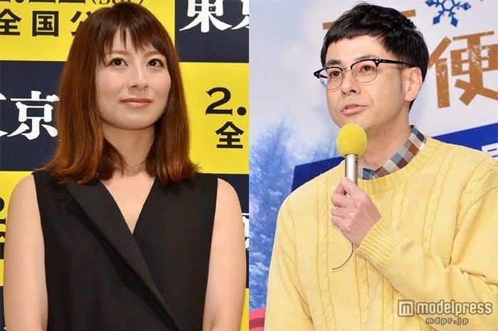 結婚を発表した鈴木浩介(右)と大塚千弘【モデルプレス】