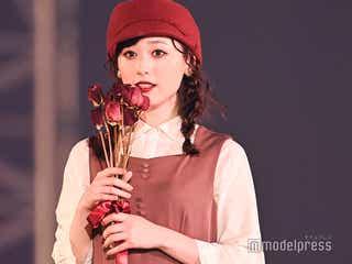 福原遥、レトロ赤ワンピで可愛らしさ全開<TGC2020A/W ONLINE>