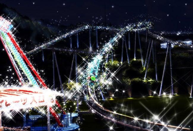 光るジェットコースター・ビバーチェスター/画像提供:大江戸温泉物語