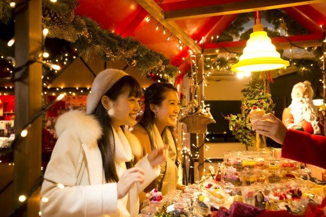新登場のクリスマスバザール/画像提供:大江戸温泉物語