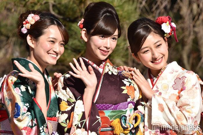 高尾美有さん、結城モエさん、岡田彩花さん (C)モデルプレス
