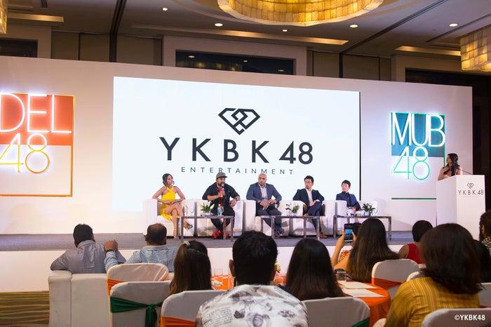 会見の様子 (C)YKBK48