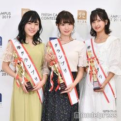 望月優夢、中川紅葉、斉藤里奈(C)モデルプレス