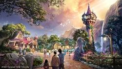 『塔の上のラプンツェル』をテーマとしたエリア (C)Disney
