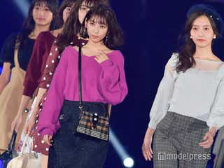 HKT48森保まどか&松岡菜摘ら最強ビジュアルユニット、ランウェイ披露<TGC北九州2018>