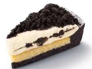 マックカフェ「オレオ クッキー チーズケーキ」2種のクリームチーズ×ザクザク食感が美味しさ奏でる