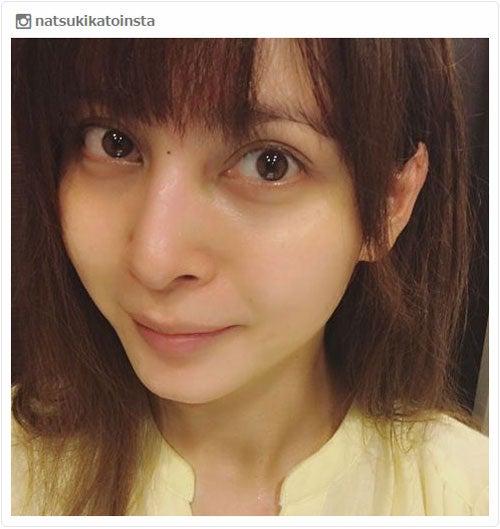 妊娠中の加藤夏希、すっぴん公開で産後ダイエットに意欲「痩せたいけど ...