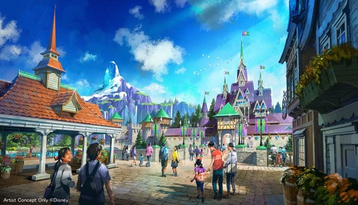 『アナと雪の女王』をテーマとしたエリア (C)Disney