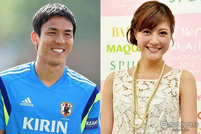 結婚報道にコメントした長谷部誠(左)と佐藤ありさ(右)/Photo:Getty Images、モデルプレス【モデルプレス】