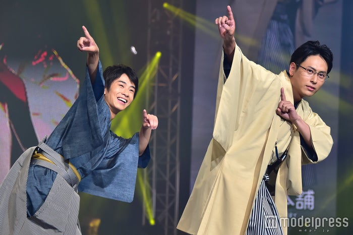 「神戸コレクション2016 AUTUMN/WINTER」に出演した前田旺志郎、山下健二郎(C)モデルプレス