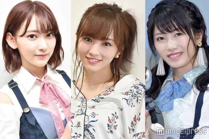 (左から)宮脇咲良、山本彩、横山由依 (C)モデルプレス