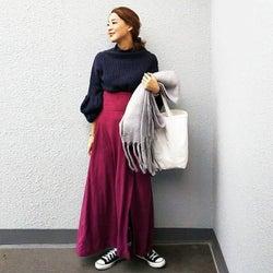 40代女子に学ぶきれい色の取り入れ方! 秋の着こなし5選