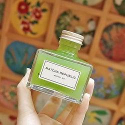 """インク瓶ボトルが可愛い!京都「抹茶共和国」のお洒落ドリンク""""抹茶インク""""って?"""