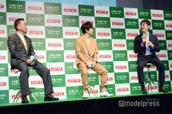 イベントではトークショーも(左から)羽村章教授、渡部建、石川善樹先生(C)モデルプレス