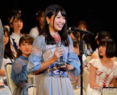 NGT48北原里英、速報92位から大逆転で選抜入り「高低差に耳キーンしてます」<第9回AKB48選抜総選挙>