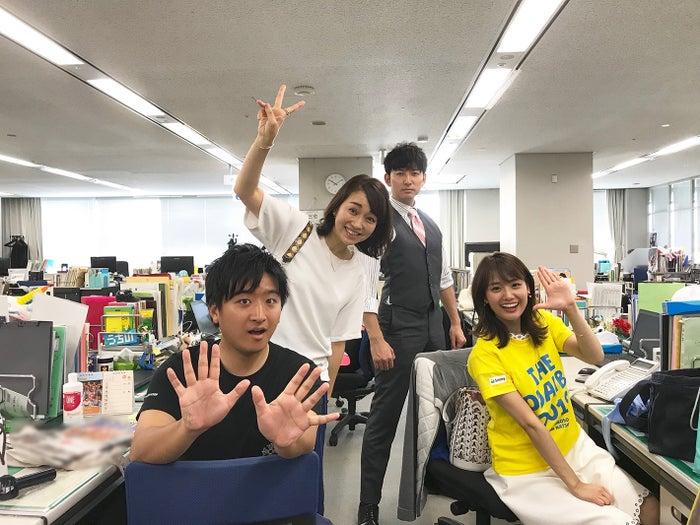 藤井弘輝アナ、戸部洋子アナ、生田竜聖アナ、井上清華アナ(提供写真)