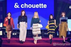 左から:山口乃々華、佐藤晴美、藤井夏恋、SAYAKA、楓(C)モデルプレス