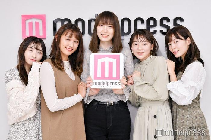 「ミス駒澤2020」ファイナリスト(左から山崎真花、阿部真綾、山寺花歩、日浦もも、福井姫奈(C)モデルプレス