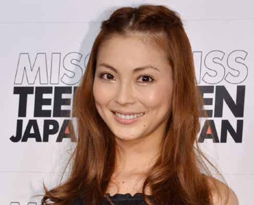 押切もえ、大胆スリットワンピで気合十分!日本初「ミス・ティーン・ジャパン」を応援