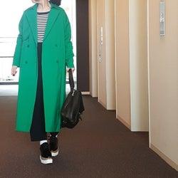 今シーズンのトレンドカラー・若葉みたいなグリーン色はどう着こなす? 大人の洗練グリーンコーディネート