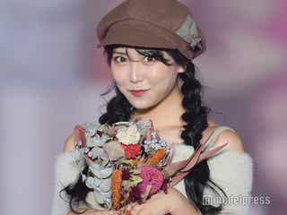 NMB48白間美瑠、キュートな肩見せコーデにドキッ<関コレ2019A/W>