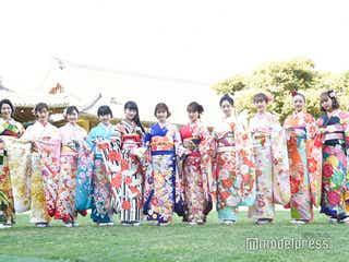 小芝風花・岡田結実・藤田ニコルらオスカー美女11人、艶やか晴れ着姿で集結