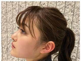 """""""太眉カット""""で話題の井上咲楽、横顔ショット披露「まつ毛長い」「美しすぎる」の声"""